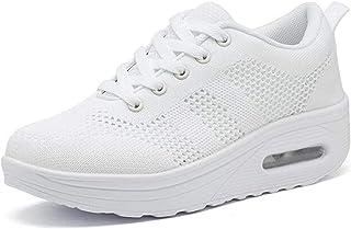 Femme Baskets Chaussures de Course Running Chaussures de Marche Sport Mode Compensées Respirantes Femme Gym Fitness Sneake...