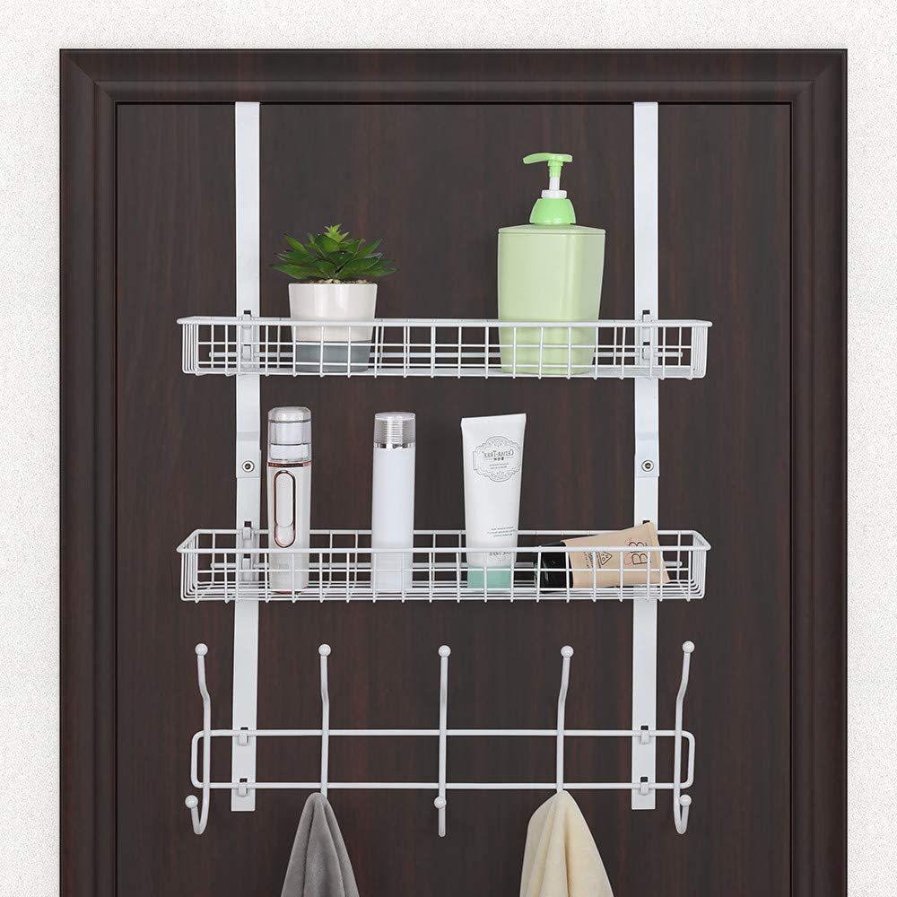Over The Beauty products Door Hooks Shelf Organizer Max 65% OFF with Towel Mes Hanger 2 Rack