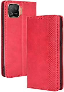 Case for OPPO F17/A73 2020,Retro Flip Wallet Phone Case and Magnetic Closure Suitable for OPPO F17/A73 2020-Red
