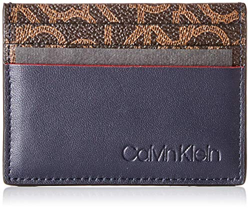 Calvin Klein - Ck Mono Cardholder, Tarjeteros Hombre, Negro (Navy), 7.8x1.2x11 cm (B x H T)