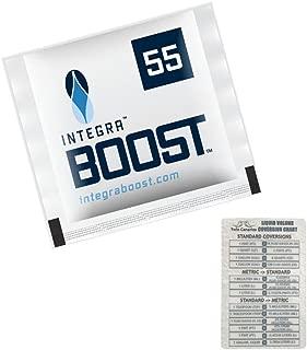 Integra Boost RH 55% 2 Way Humidity Control Medium, 8g - 12 Pack + Twin Canaries Chart