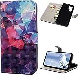 Huawei P30 Pro H�lle Leder Tasche PU Leder H�lle Gemalt Muster Flip Brieftasche Kartenhalter Magnetschnalle St�nder Sto�fest Kratzfest Sto�stange Handyh�lle Farbiges Dreieck