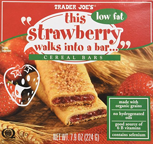 Trader Joe's This Strawberry Walks Into a Bar Cereal Bars (Low Fat) 1 Box Con...