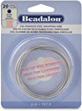 Beadalon Round Wire 316L Stainless Steel 20 Gauge, 6-Meter