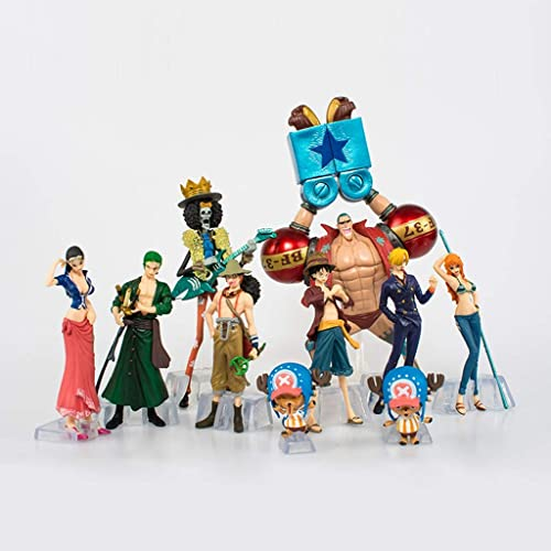 SONGDP Anime-Spielzeug Anime-Modell One Piece 2 Jahre sp r Lufei Strohhut Legion 10 Ornamente Puppe Auto Ornamente Cartoon Cartoon Erwachsene Kinder Spielzeug Monster Spielzeug Kunstwerk 9-19cm Anim