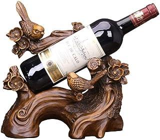 LXTIN Casier à vin Acacia Oiseau Casier à vin Décoration Armoire à vin Bureau Maison Décoration créative Mobilier Artisana...