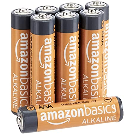 AmazonBasics AAA Performance Alkaline Non-Rechargeable Batteries (8-Pack) - Appearance May Vary