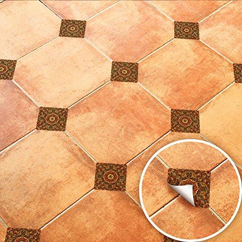 Bodhi2000 - Adhesivo diagonal para azulejos, 20 unidades, diseño de flores exóticas, para decoración del hogar, sala de estar, dormitorio, cuarto de baño