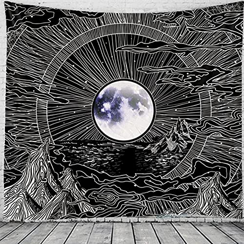 Malerei Dekoration Tapisserie Mandala Hexerei Hippie Tapisserie Bohemian Style Wandbehang Tapisserie Hängetuch A5 180x200cm