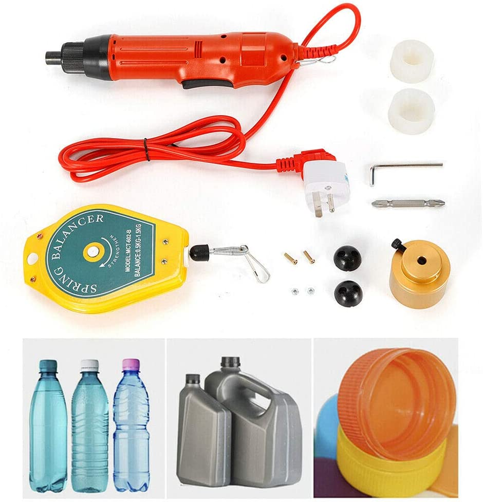 Fashionable CNCEST 110V Electric Bottle Capping Machine shipfree Handheld Sealin Cap