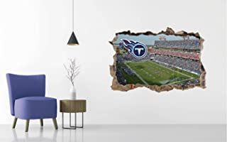 Tennessee Titans Stadium - Football Stadium 3D Effect - Brake Wall Effect 3D - Wall Decal For Rooms And Living Room (Wide 50