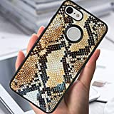 Google Pixel 3 Phone Case Snake Skin Pattern Hard Shell Tire Soft Edge TPU+PC Black Material Google Pixel 3 Case