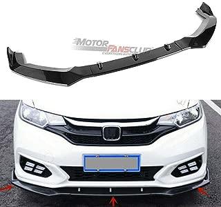 MotorFansClub 3pcs Front Bumper Lip for Honda Jazz Fit GK5 2018 2019 Splitter Trim Protection Spoiler, Black