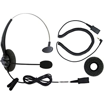 Amazon Com Dailyheadset 2 5 Mm Jack Corded Phone Headset Qd Over Ear Headphones For Cordless Phone Home Landline Telephone Home Audio Theater