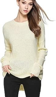 Locomo Women Girl Pullover Knit Sweater Top Crew Neck Long Sleeve FFK100