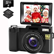 Digital Camera Vlogging Camera with YouTube 30MP Full HD...