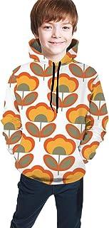 Vintage Flower Kids/Teen Girls' Boys' Hoodies,3D Print Pullover Sweatshirts