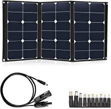 TWELSEAVAN 60W Portable Solar Panel Sunpower Foldable Solar Panel Charger Dual 5V USB and 18V DC Solar Charger for Portable Solar Generator/Power Station, 12V Battery, Camping, Hiking, Outdoors
