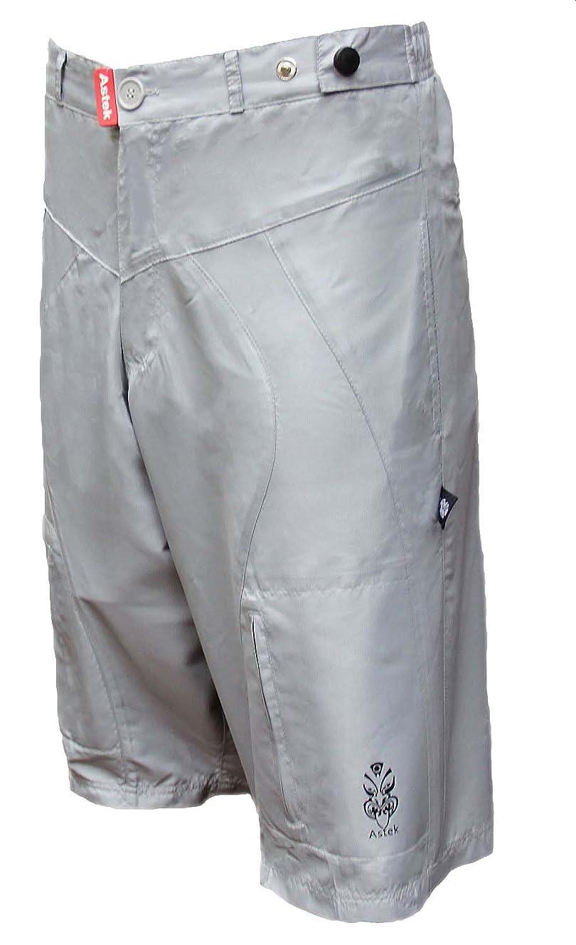 Astek Men Baggy Loose Fit Padded City Bike Grey Shorts
