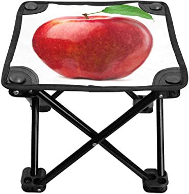 INTERESTPRINT Camping Stool Fold Mini Camp Stool, Lightweight Camping Stool Red Apple Fruit