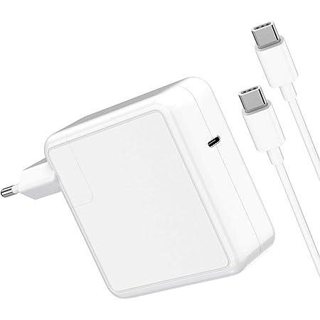Cargador Mac Book Pro Adaptador 87W Compatible with Macbook Pro cargador de repuesto de 87 W, para 2016, 2017, 2018, 2019, Mac Book de 13/15 pulgadas, 87 W, tipo C con cable de carga de 6,56 pies