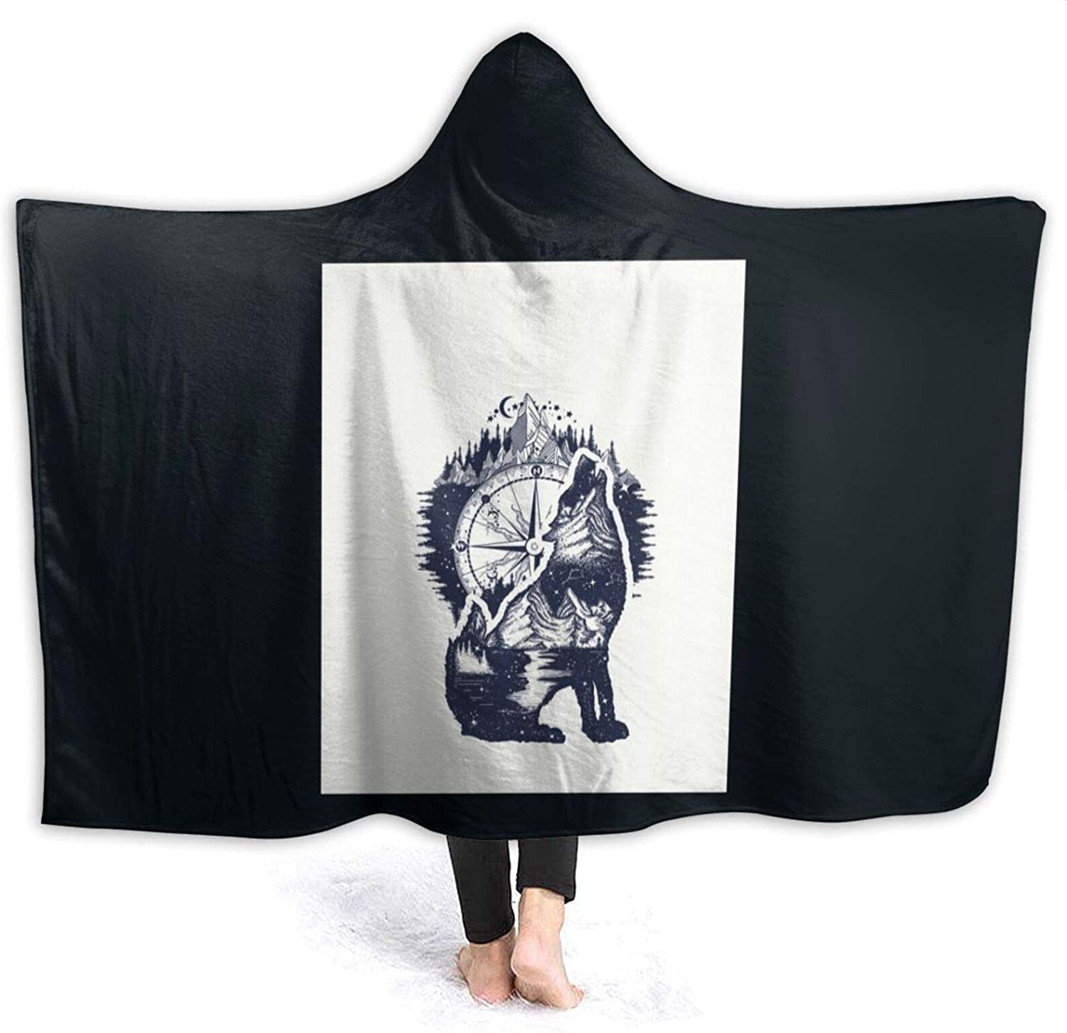 Wolf and Mountains Wearable Blanket Free shipping Nashville-Davidson Mall anywhere in the nation Stylish Throw f Sofa
