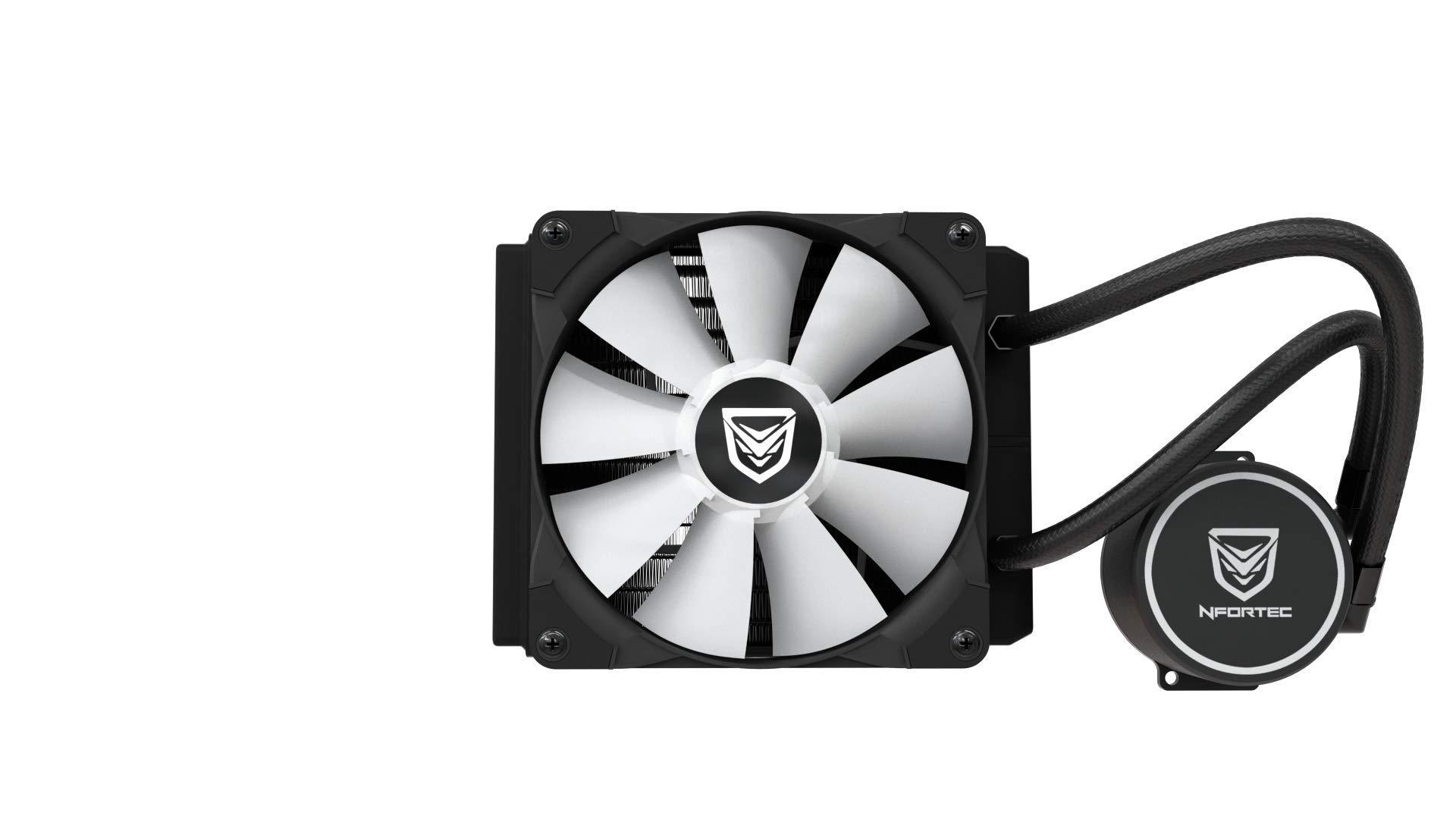 Nfortec Hydrus RGB Refrigeración Líquida 120mm con Retroiluminación RGB y Ventiladores de 120mm con PMW Integrado: Amazon.es: Informática
