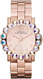 Marc By Marc Jacobs Large Crystal & Rose Goldtone Stainless Steel Watch Mbm3223, Analog-Digital Display