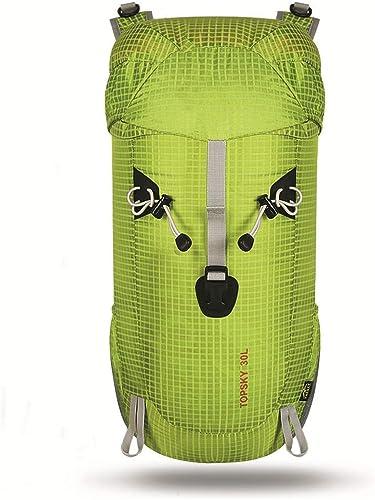 Sac d'alpinisme extérieur 30L Sac à Dos de vélo imperméable léger Pliable (Fruit vert)