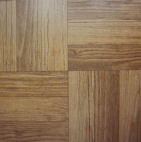 50Vinyl Boden Fliesen: Dunkles Holz selbstklebend