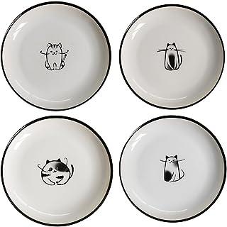 SOCOSY Cute Cartoon Dog Ceramic Seasoning Dishes Sauce Dish Sushi Dipping Bowl Appetizer Plates Tea Bag Holder Serving Dis...