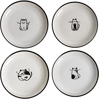 plates with cats on them