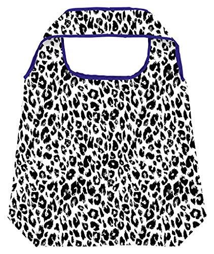 Moses Shopper Leo | Faltbare Einkaufstasche | umweltfreundlich, wiederverwendbar, Polyester, schwarz-weiß, One Size