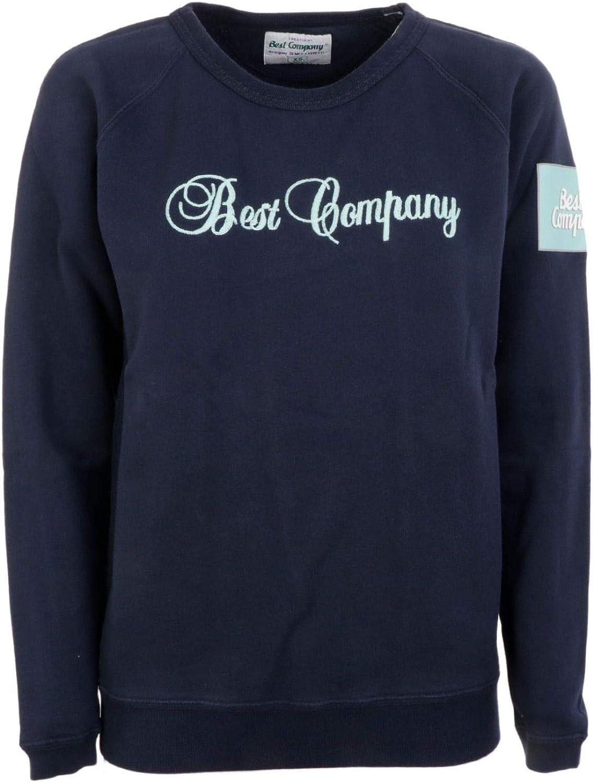 Best Company Women's 5925290800 bluee Cotton Sweatshirt