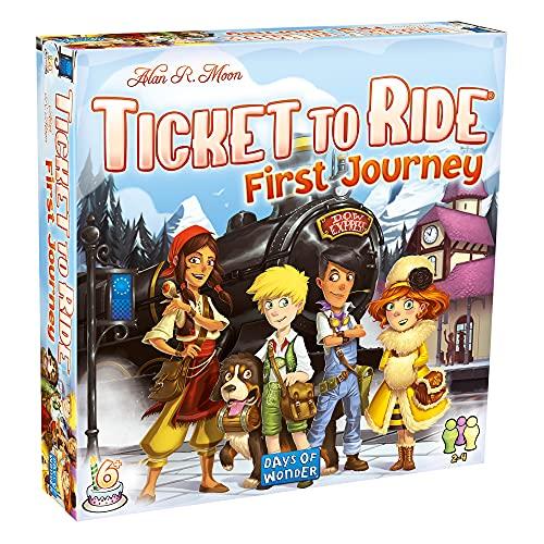 Days of Wonder DO7227 Ticket To Ride: Europe - First Journey, White