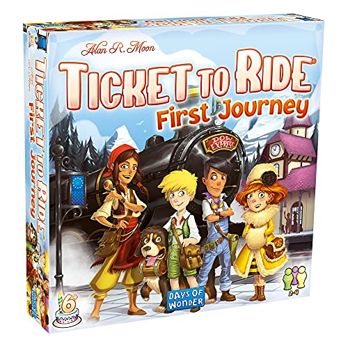 Days of Wonder | Ticket to Ride First Journey Europe Board Game | Ages 6+ |...