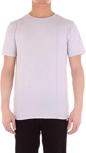 DIKTAT Homme 59152blanc Blanc Coton T-Shirt