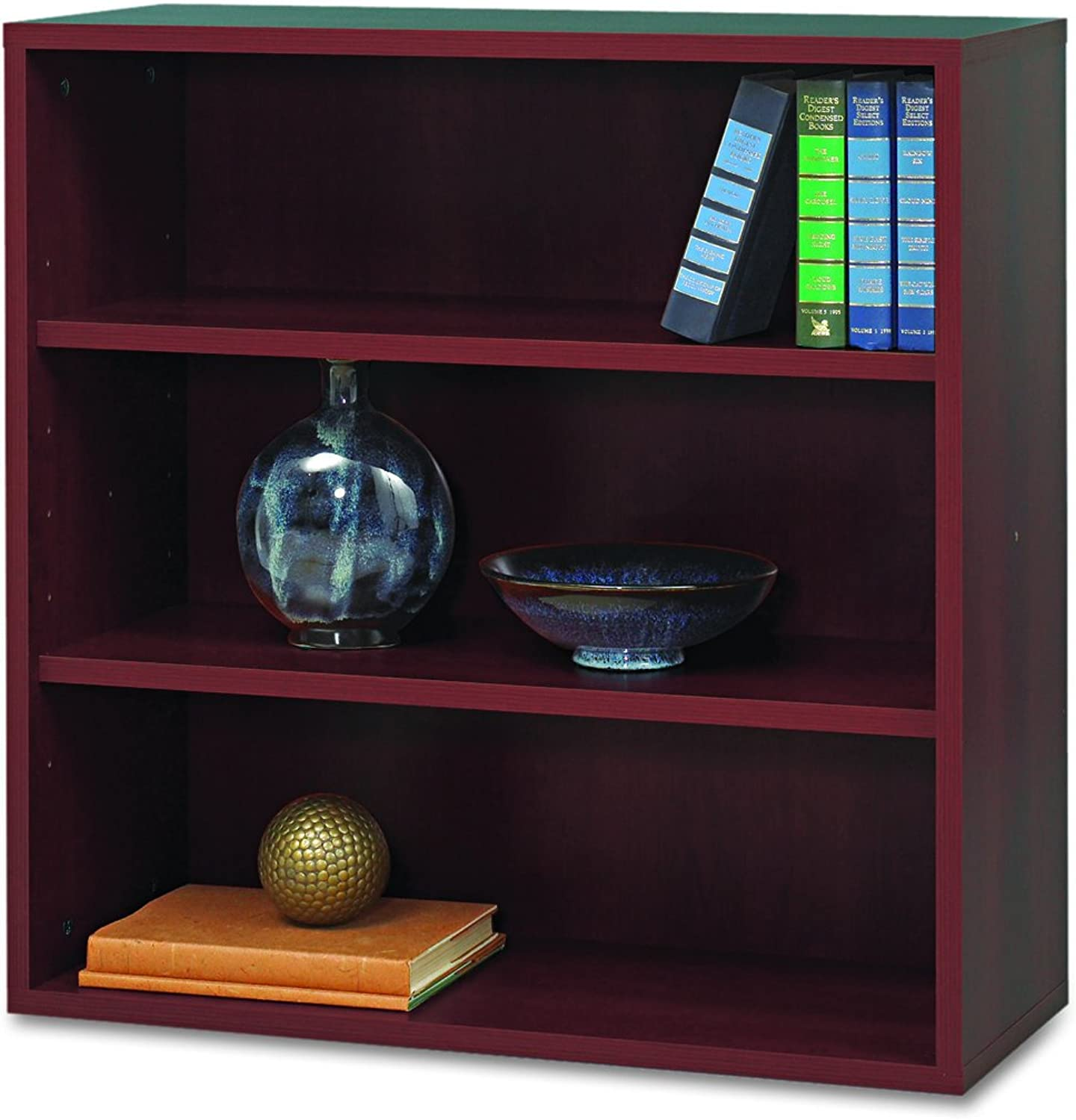Safco Products 9440MH Apres Modular Storage Open Bookcase, Mahogany