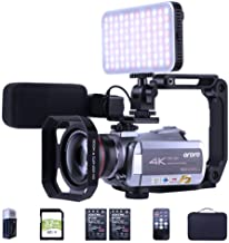 ORDRO HDR-AZ50 Video Camera 4K Camcorder UHD 4K 30FPS Vlog Camera IR Night Vision Recorder with MIC, LED Light, Wide-Angle...