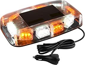 YITAMOTOR 30 LED Roof Top Strobe Lights, Emergency Hazard Warning Safety Flashing Strobe Light Bar with Magnetic Mount for 12-24V Trucks, Snow Plow, Construction Vehicles