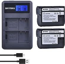 Batmax Decoded 2Pcs EN-EL15 EN EL15 ENEL15A Camera Battery + LCD Dual USB Charger for Nikon D600 D610 D600E D800 D800E D810 D7000 D7100 d750 V1 MH-25
