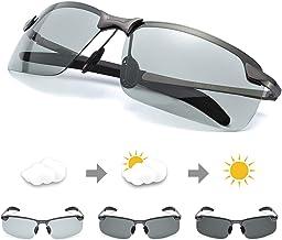 TJUTR Men's Photochromic Sunglasses with Polarized Lens for Outdoor 100% UV Protection, Anti Glare, Reduce Eye Fatigue