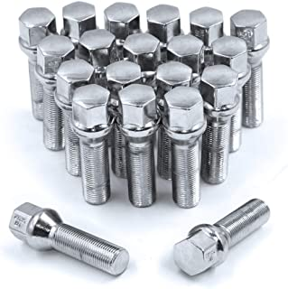 Wheel Accessories Parts 20 PC Chrome M14 X 1.25 Conical Lug Bolts with 17mm Hex (40MM Long)
