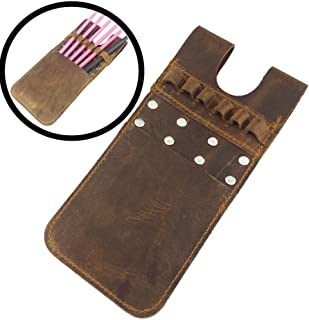 CHINA AMIER ARCHERY Back Pocket Arrow Quiver Horse Leather Pocket Quiver for Holding 6 Pieces Arrows