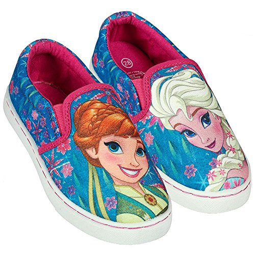 Disney Frozen, Baskets Pour Fille Bleu Elsa e Anna - Bleu - Elsa e Anna, 33 EU