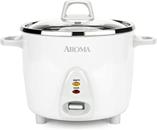Aroma Housewares Select Stainless Rice Cooker & Warmer with Uncoated Inner Pot, 14-Cup(cooked) / 3Qt, ARC-757SG