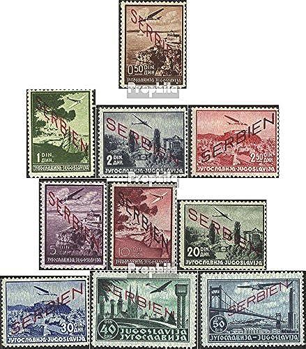 Prophila Collection Serbien (Dt.BES.2.WK.) 16-25 (kompl.Ausg.) 1941 Aufdruckausgabe (Briefmarken für Sammler) Luftfahrt