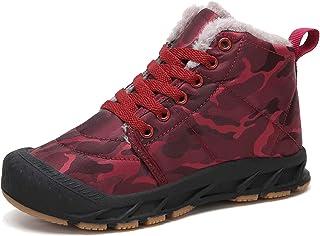 Veluckin Zapatos Invierno Niño Botas de Nieve de Camuflaje Niña Botas de Senderismo