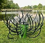 Green Blob Outdoors Fish 'N A Barrel Artificial Fish Habitat Tree for Ponds, Lakes, Docks, Creates Dense Structure, Brush Reef,
