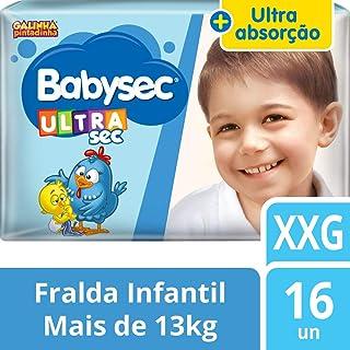 Fralda Babysec Galinha Pintadinha Ultrasec Xxg 16 Unids, Babysec, Azul, Xxg